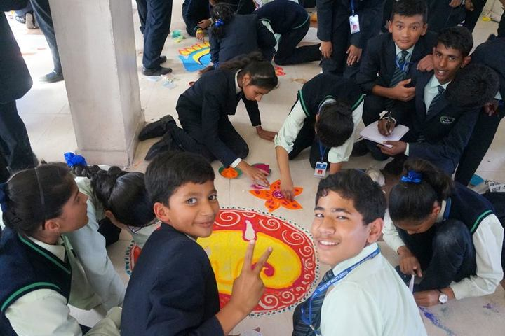 Mount Litera Zee School-Rangoli Competition