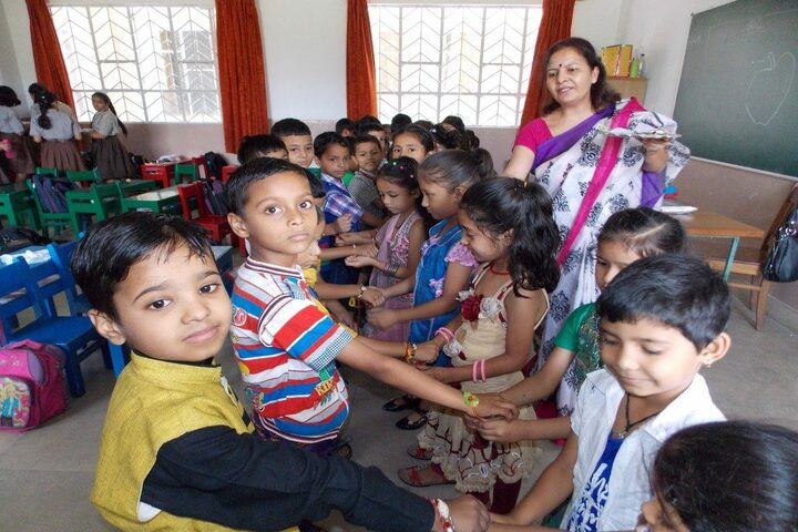 Nirmal Ashram Deepmala Pagarani School-Rakhi Celebrations