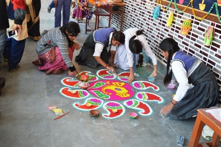 Shanti Memorial Public School-Rangoli