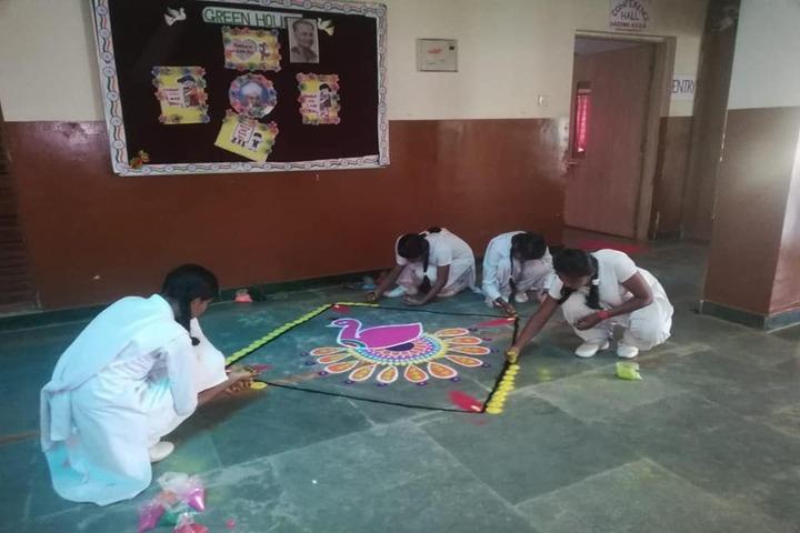 Aadeshwar Academy School Bastar-Rangoli Competition