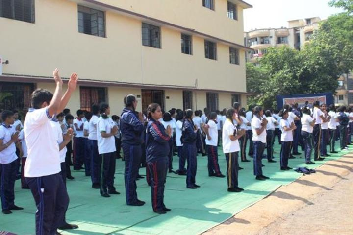 Adarsh Vidyalalya School-International Yoga day