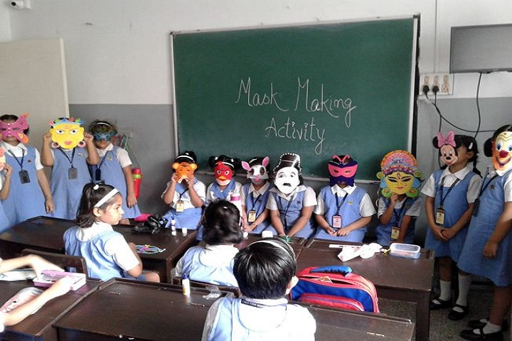 Ashok Hall Girls Higher Secondary School-Mask Making Activity