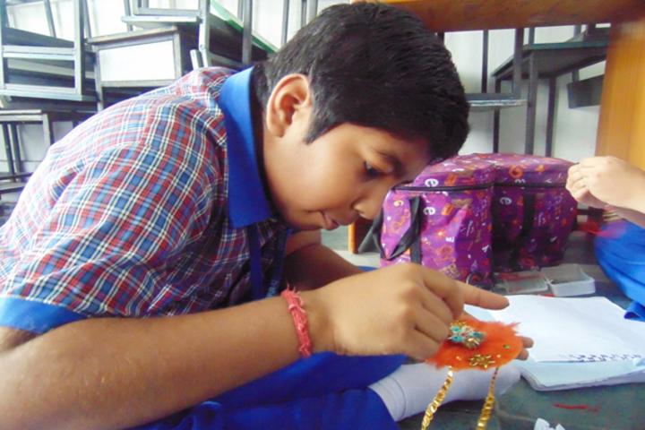Durgapur Public School-Rakhi Making Compitition