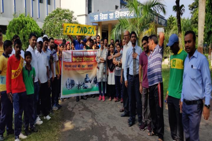 Kendriya Vidyalaya-Fit India Plogging Run
