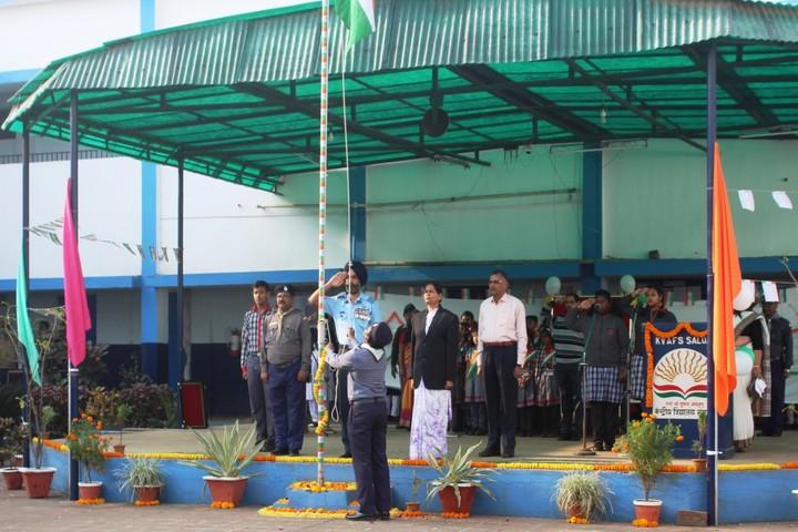 Kendriya Vidyalaya-Flag-Hosting