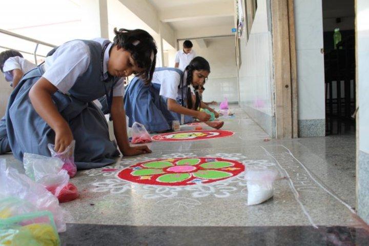 Campion School Raipur-Rangoli Competition