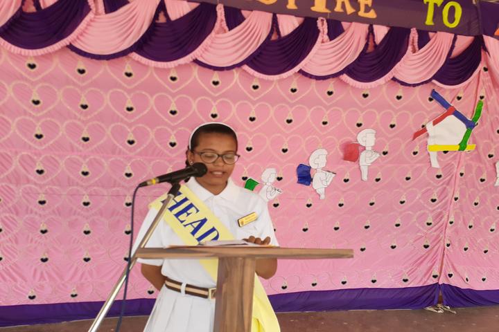 Carmel Convent School Mahasamund-Speech By Head Girl