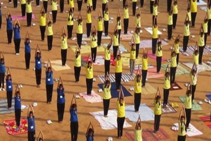 D A V Public School Korba-International Yoga Day