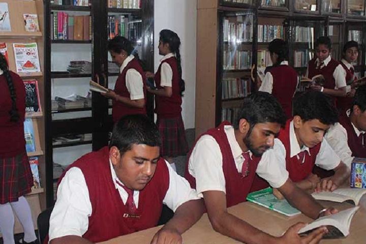 Sacred Heart Senior Secondary School-Library with students