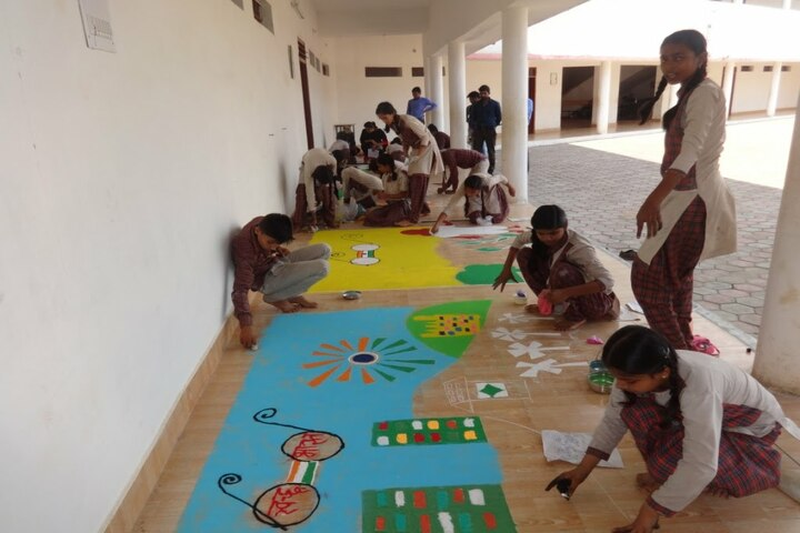 Dav Mukhyamantri Public School-Rangoli Competition