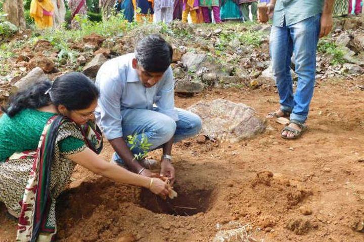 Sri Adwayananda Public School-Planting Tree