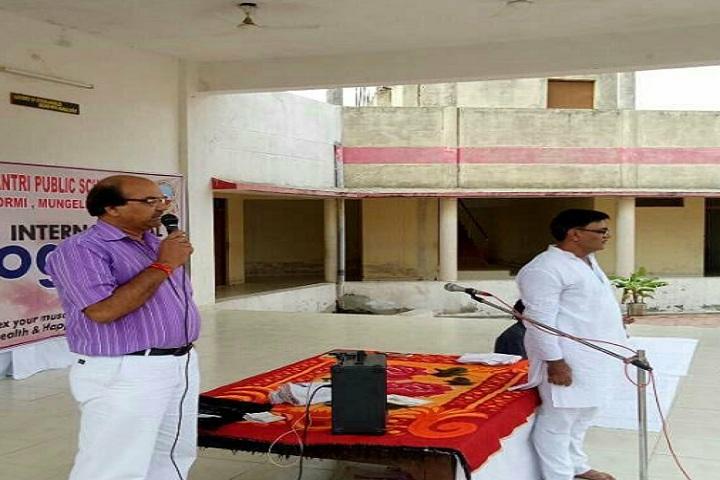 DAV Mukhyamantri Public School-Yoga day Speech