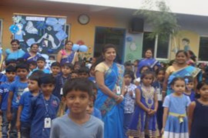 Aryan Presidency School-Blue Day