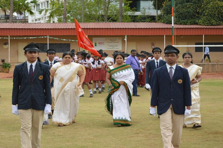 M. E. C. Public School-Cheif Guest-Welcoming