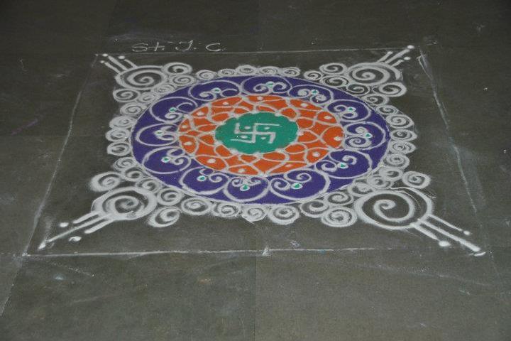 St Peters School-Rangoli