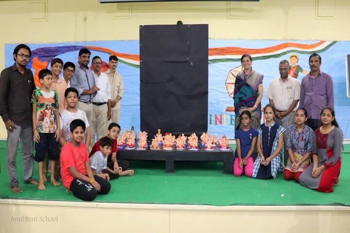 Anubhuti School-Ganesh Making