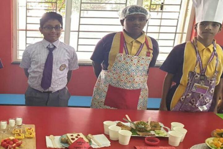Wisdom World School-Salad Making
