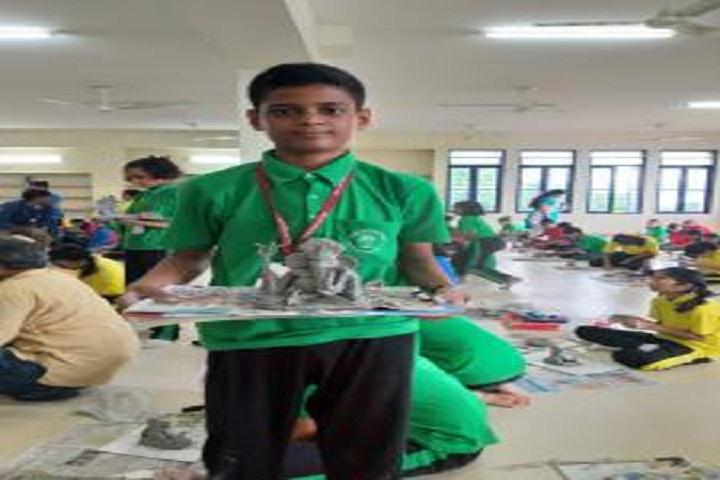 Vidya Pratishthans Nanded City Public School-Making ganesh