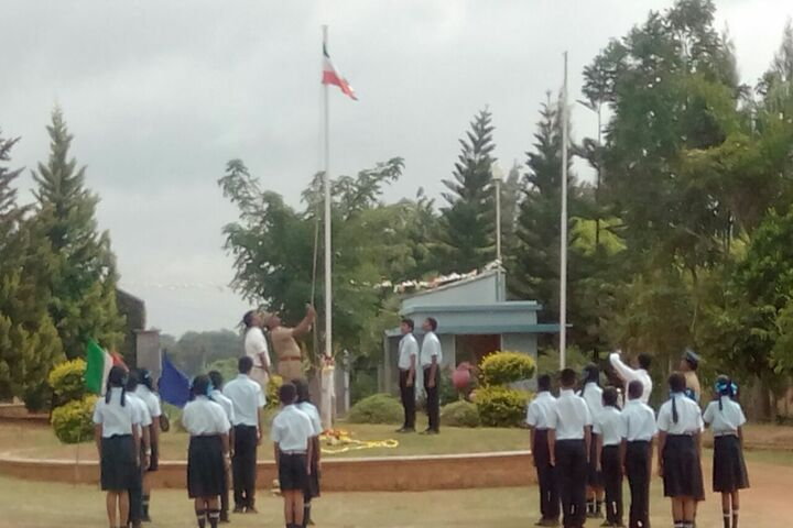 Santa Maria Academy International School-Flag Hoisting