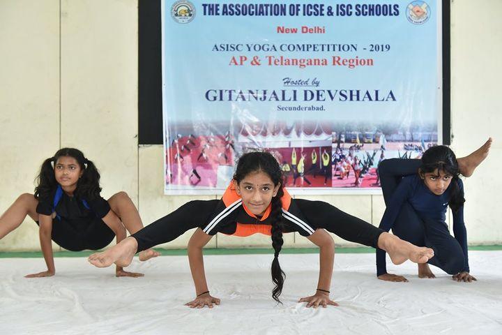 Gitanjali School-Yoga Activity