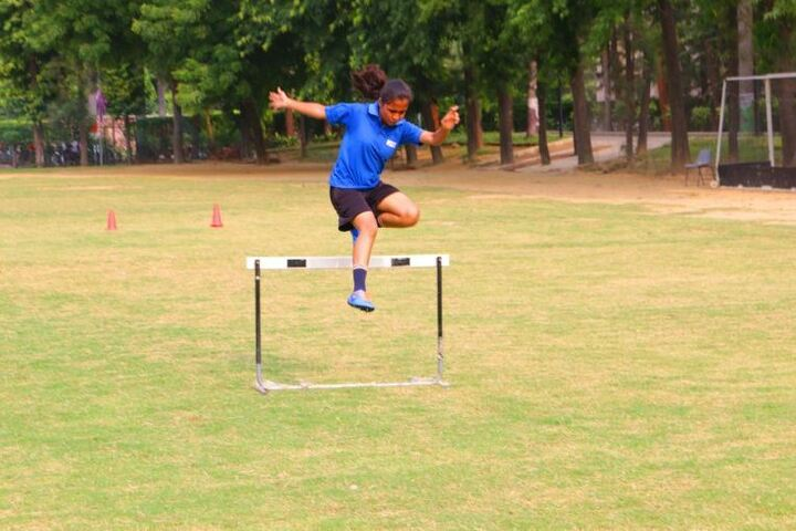 Seth M R Jaipuria School-Long Jump Sports