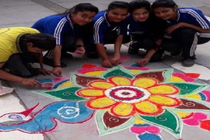 Sai Girls Public School-Rangoli Competition
