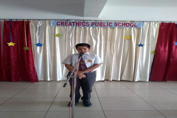 Creathics Public School-Elocution Competition