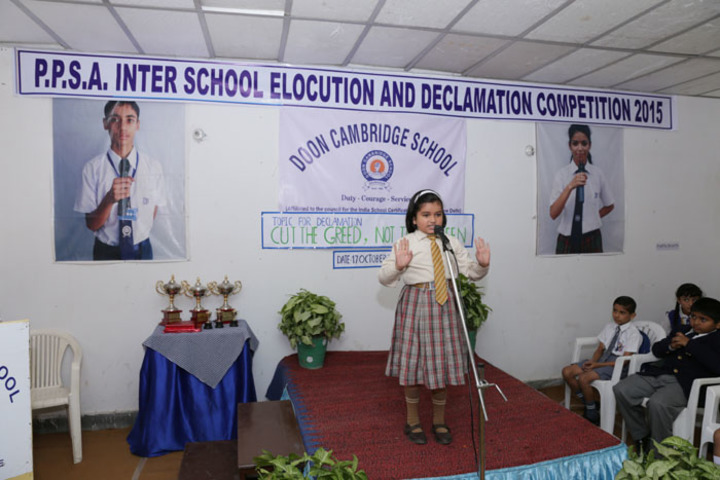 Doon Cambridge School-Declamation Competition