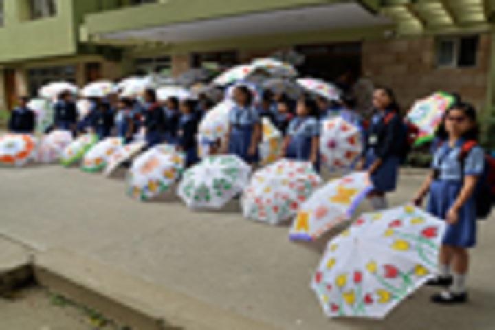 G  D  Birla Centre For Education-Umbrella Painting