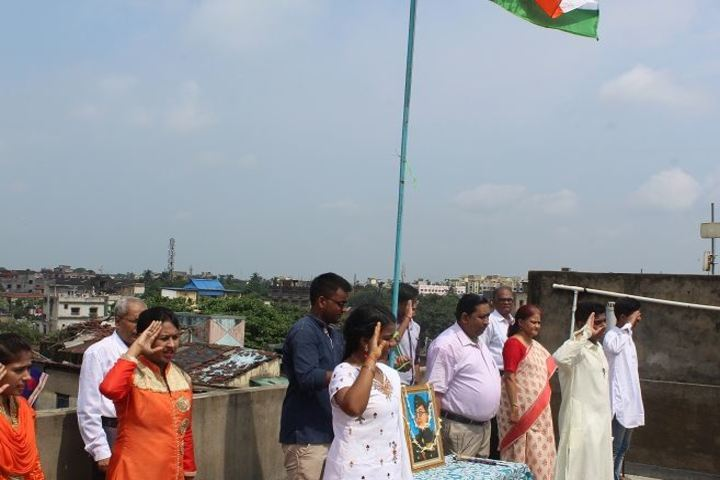 St Denis School-Flag Hoisting