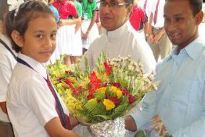 Don Bosco School-Honouring Cheif Guest