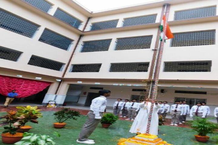 Don Bosco School-Flag Hoisting