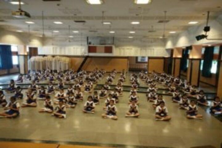The JB Vachha High School-Yoga Class