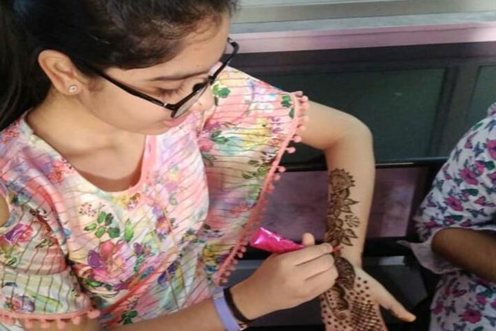 Infocity Junior Science College-Mehendi Competition