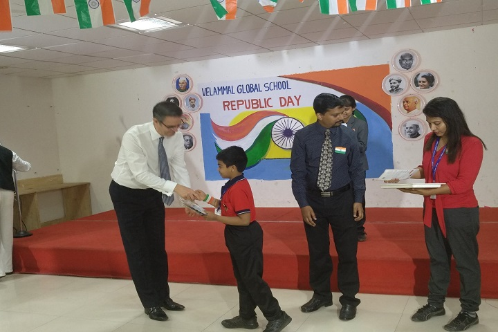 Velammal Global School-Prize