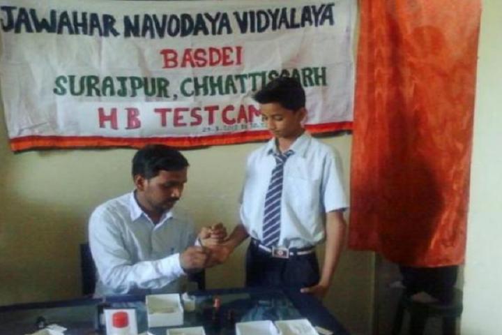 Jawahar Navodaya Vidyalaya-Test Camp