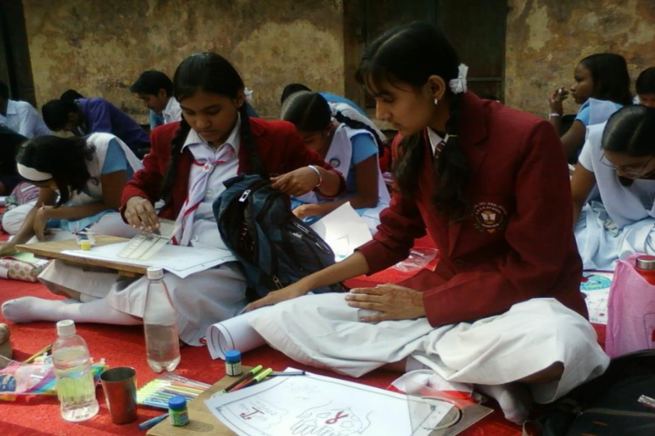 Jyoti Higher Secondary-Painting activity