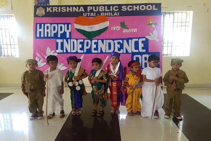 Krishna Public school-independence day