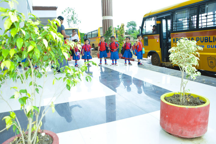 KRISHNA PUBLIC SCHOOL,PULGAON, DURG-bus transport
