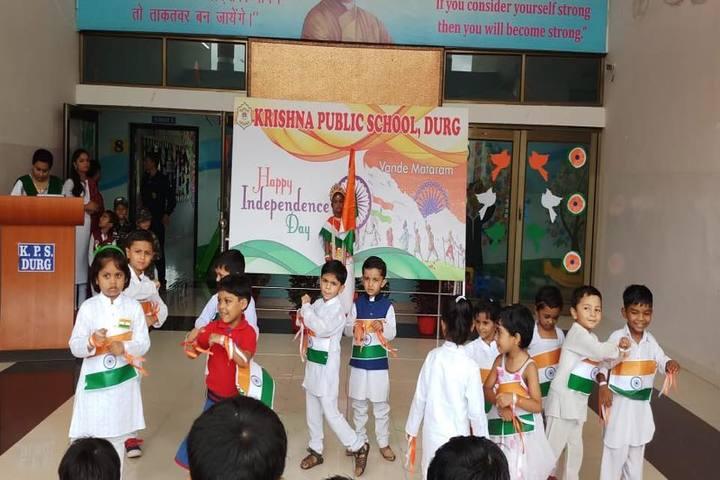 KRISHNA PUBLIC SCHOOL,PULGAON, DURG-independence day