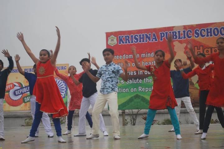 KRISHNA PUBLIC SCHOOL,PULGAON, DURG-republic day