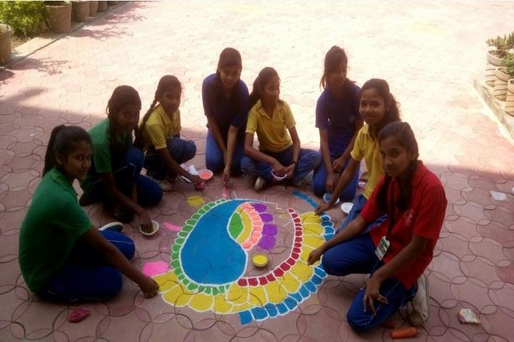 Montfort School-Rangoli