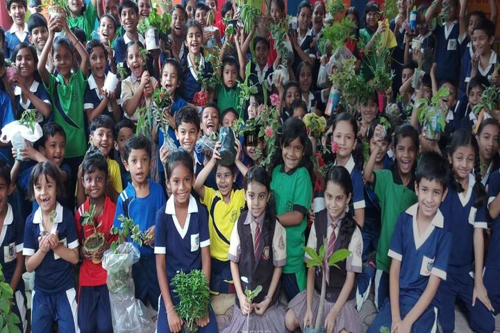 """MotherS Pride Higher Secondary School-Tree Plantation"""