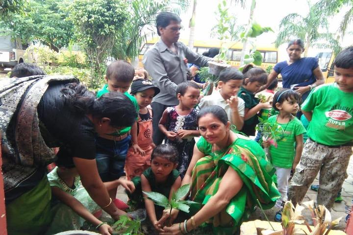Sachdeva International School-Tree Plantation