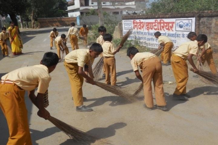 Saint Harkewal Vidyapeeth High School-Cleaing The Campus