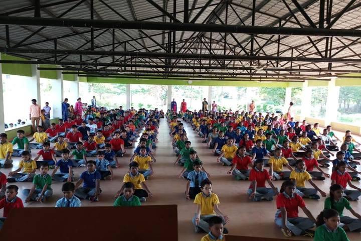 St. Vincent Pallotti International Residential School-Yoga Day