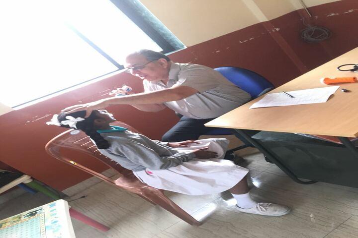 Fr  Agnelo School-Eye Check Up