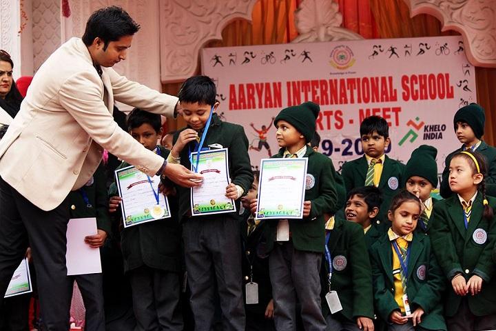 Aaryan International School-Certification