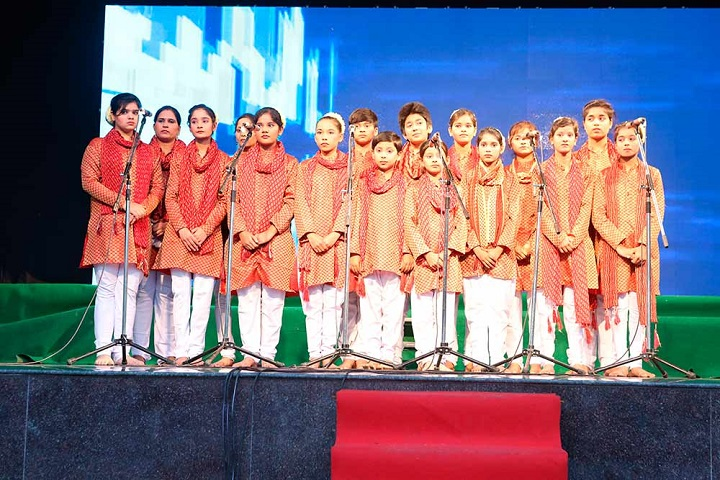 Akash Model School-Group Singing Performance