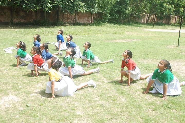 Angels Public School-Yoga Class